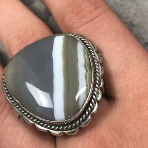 Jewelry - Chunky Agate and Sterling Ring